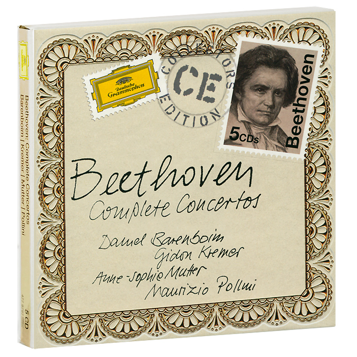 Daniel Barenboim. Myung Kremer. Anne-Sophie Mutter. Maurizio Pollini. Beethoven. Complete Concertos (5 CD)