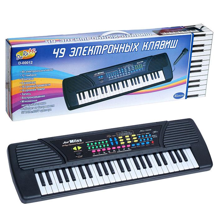 """Синтезатор """"DoReMi"""", 49 клавиш, с микрофоном"""