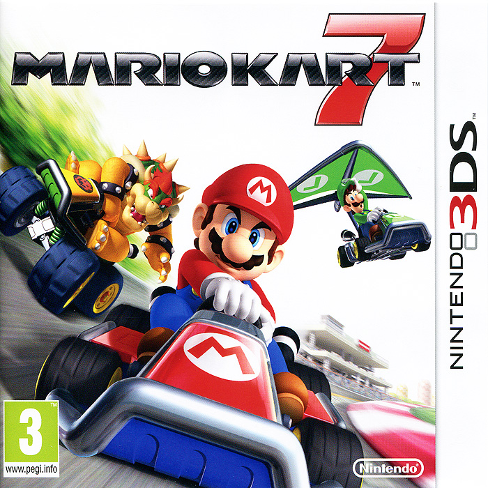 Mario Kart 7 (3DS) игровая приставка new nintendo 2ds xl black lime mario kart 7