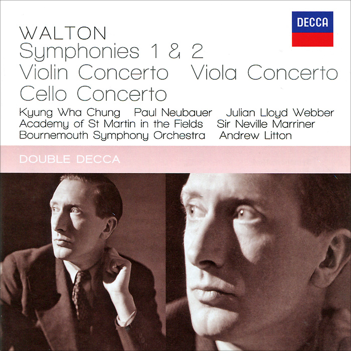 Bournemouth Symphony Orchestra,Эндрю Лайттон Julian Lloyd Webber, Kyung Wha Chung, Paul Neubauer, Andrew Litton. Walton. Concertos & Symphonies (2 CD)