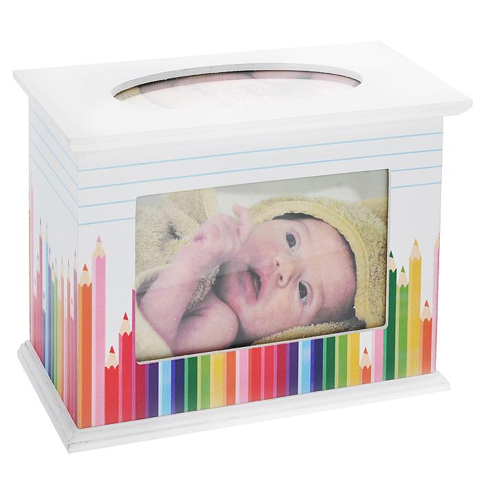 """Фотобокс архивный """"Цветные карандаши"""", 60 фотографий, 10 см х 15 см. 566096, Sima-land"""