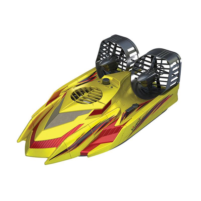 """Радиоуправляемая модель Silverlit """"Амфибия Hover Racer"""", цвет: желтый"""