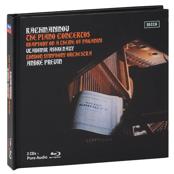 Владимир Ашкенази,The London Symphony Orchestra,Андрэ Превен Vladimir Ashkenazy. Rachmaninov. Piano Concertos 1-4 / Paganini Rhapsody. Limiten Edition (2 CD + Blu-ray Audio)