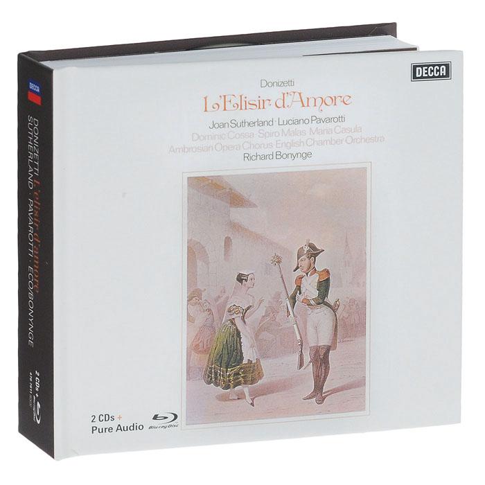 Джоан Сазерленд,Лучано Паваротти,Maria Casula,English Chamber Orchestra,Ричард Бонинг Donizetti: L'Elisir D'amore. Sutherland / Pavarotti / Eco / Bonynge (2 CD + Blu-Ray Audio)