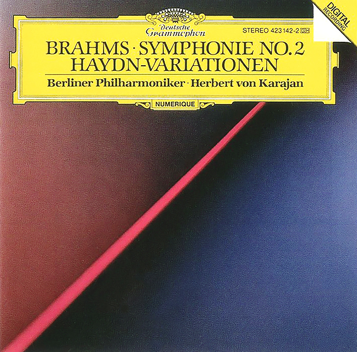 Герберт Караян,Berliner Philharmoniker Herbert Von Karajan. Brahms. Symphony No. 2 / Haydn-Variations