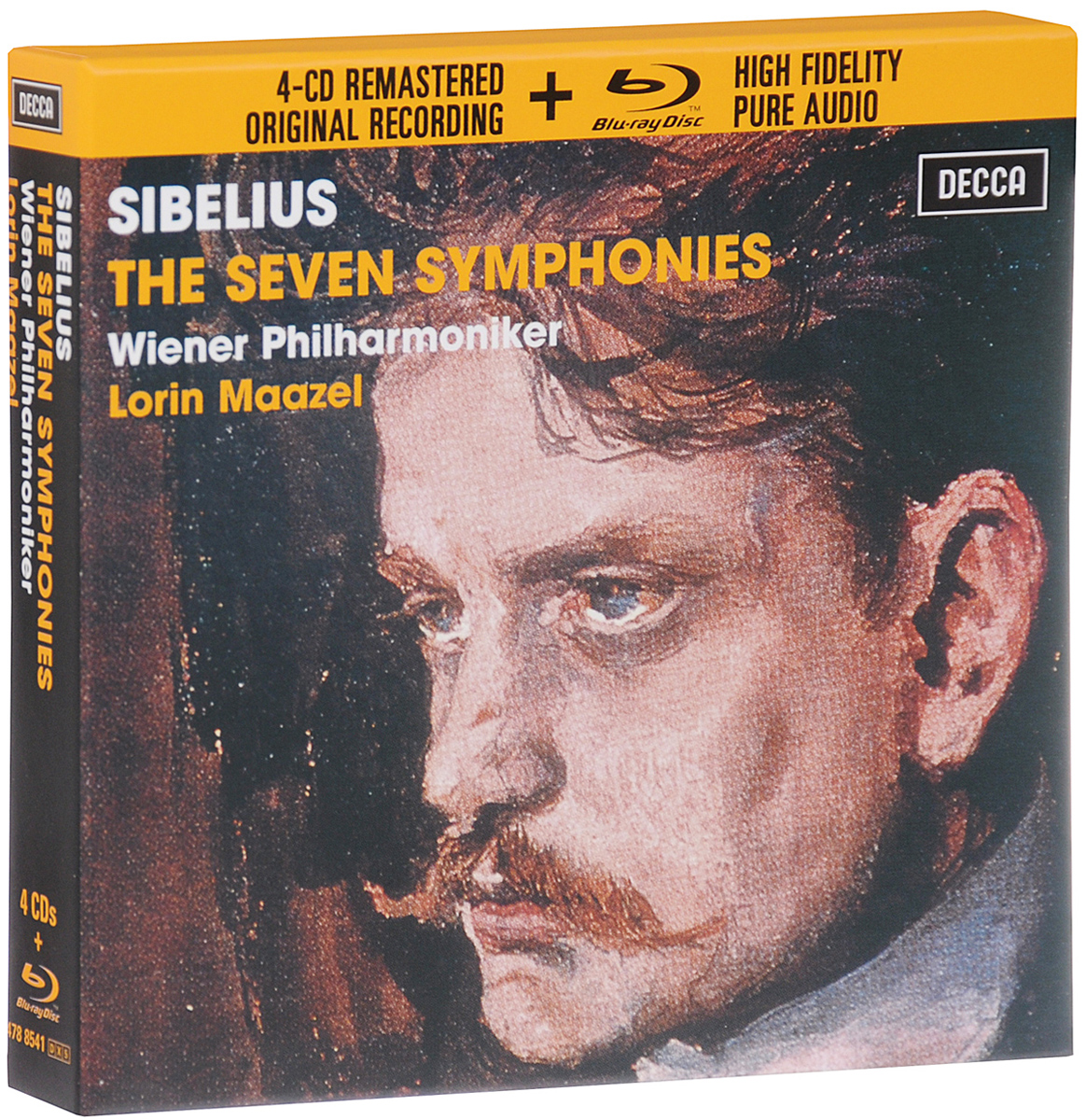 Лорин Маазель,Wiener Philharmoniker Lorin Maazel. Sibelius. The Seven Symphonies. Limited Edition (4 CD + Blu-Ray Audio)
