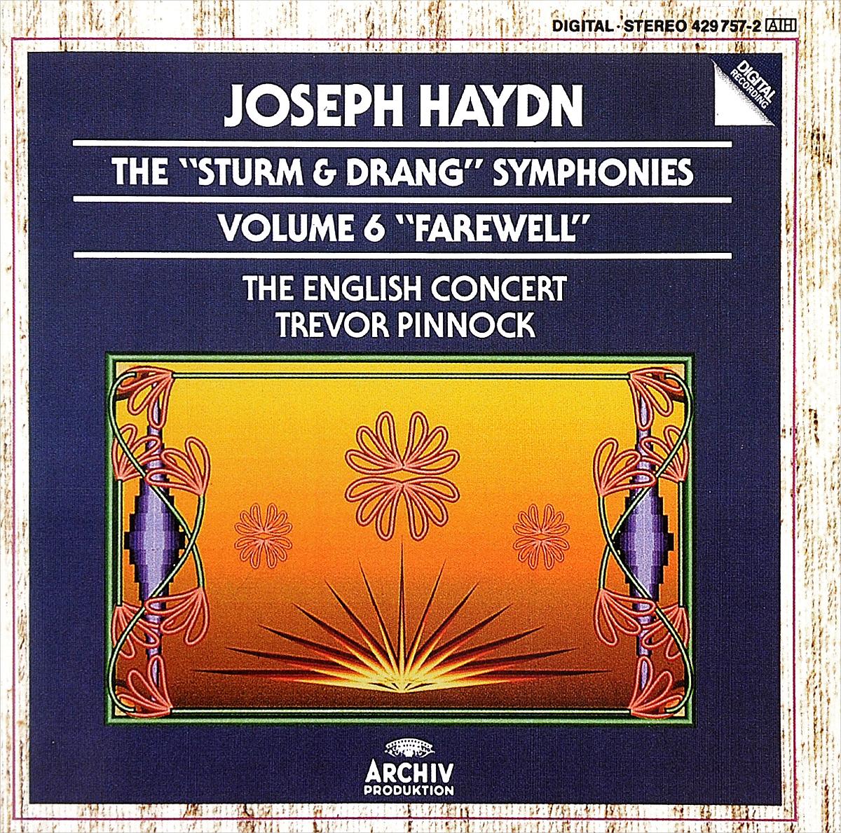 "The English Concert,Тревор Пиннок Trevor Pinnock. Joseph Haydn. The Sturm & Drang Symphonies. Volume 6. ""Farewell"""