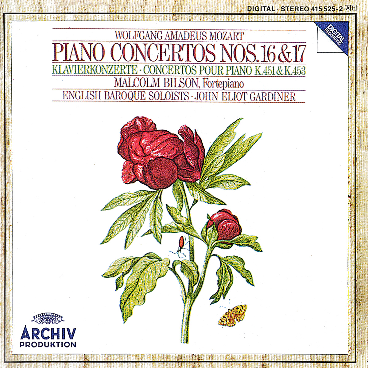 The English Baroque Soloists,Малкольм Билсон,Джон Элиот Гардинер John Eliot Gardiner. Mozart. Piano Concertos Nos. 16 & 17