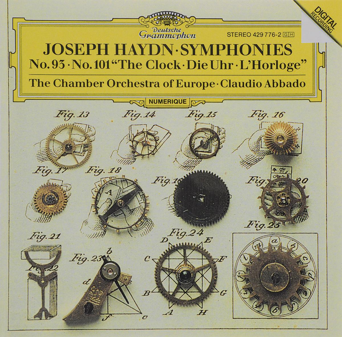 "Клаудио Аббадо,The Chamber Orchestra Of Europe Claudio Abbado. Haydn. Symphonies No. 93 / No. 101 ""The Clock"""