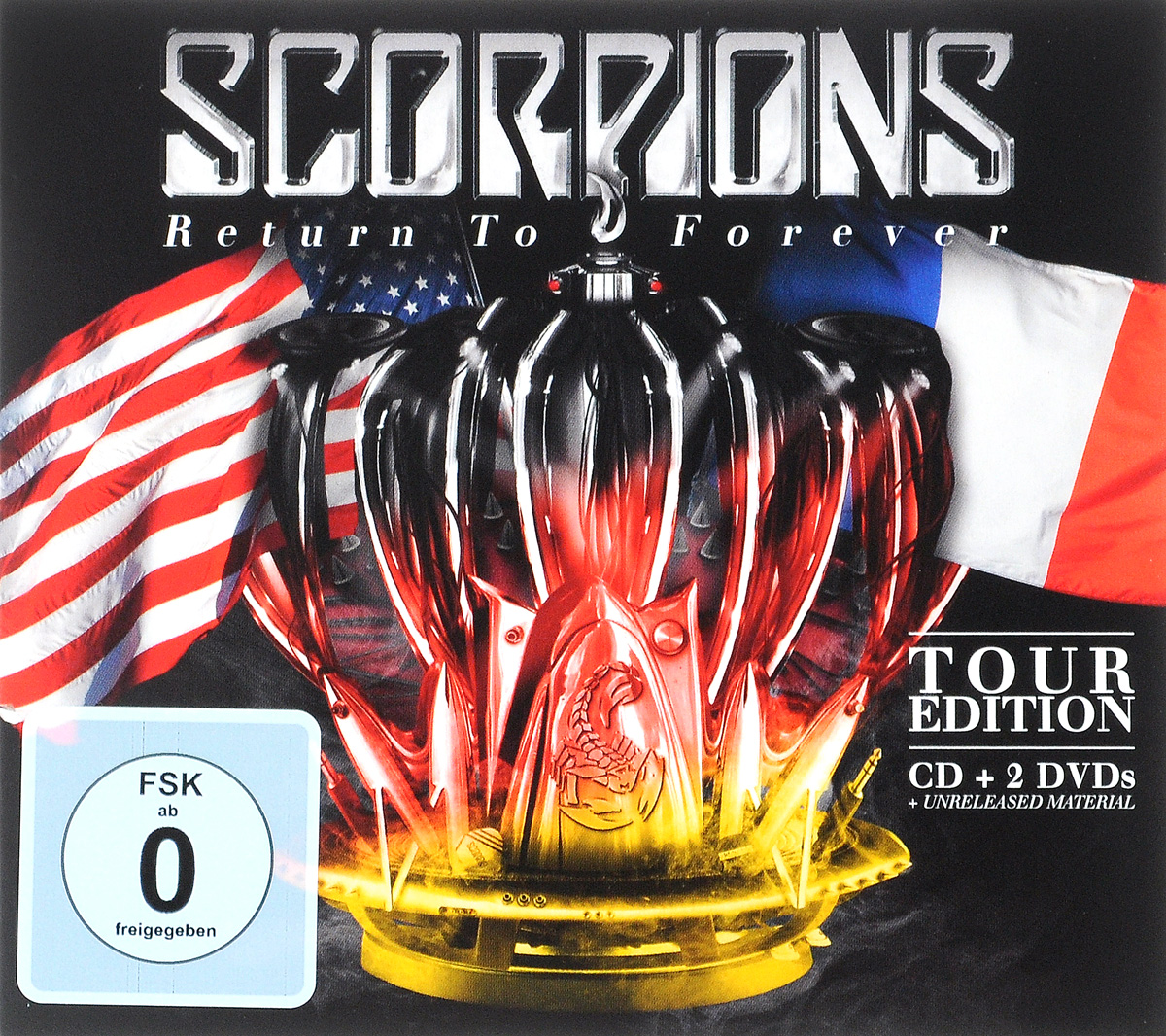 """Scorpions"" Scorpions. Return To Forever. Tour Edition (CD + 2 DVD)"