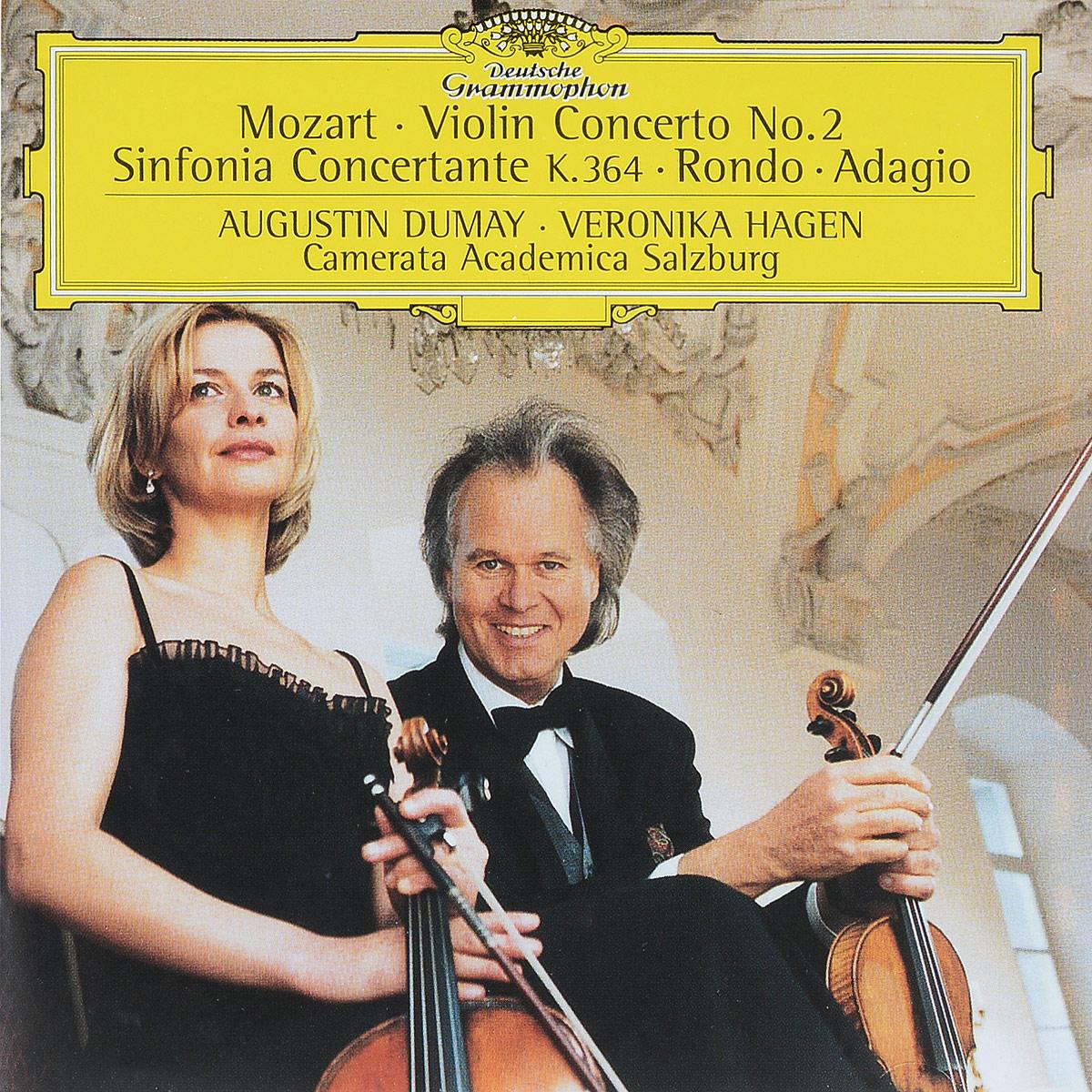 Mozart. Augustin Dumay. Veronika Hagen, Camerata Academica Salzburg. Violin Concerto No.2. Sinfonia Concertante K.364. Rondo. Adagio