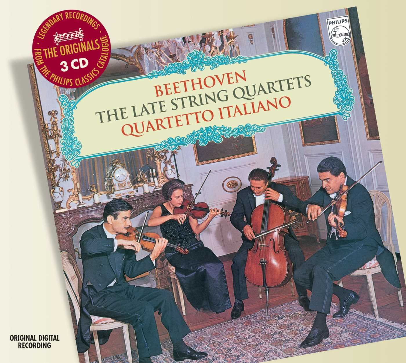 Quartetto Italiano. Beethoven: The Late String Quartets (3 CD) beethoven mozart