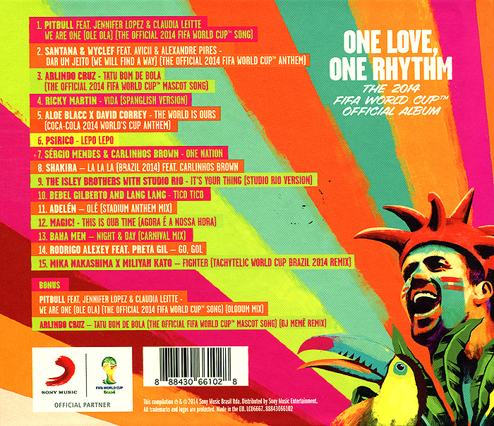 One Love, One Rhythm. The 2014 Fifa World Cup Official Album. Limited Edition