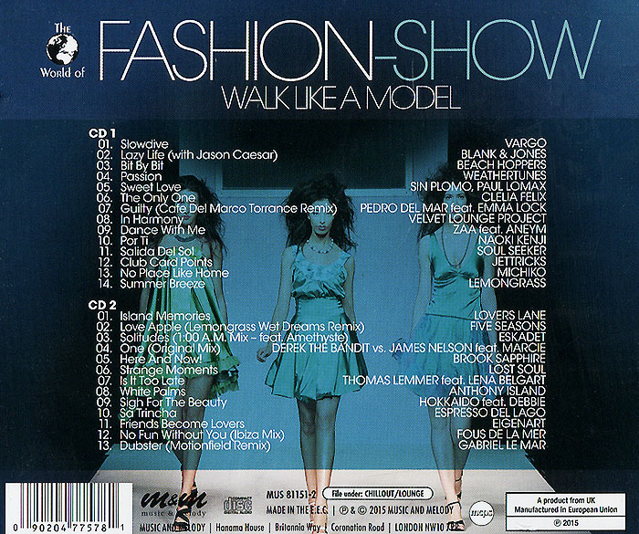 Fashion-Show. Walk Like A Model (2 CD)