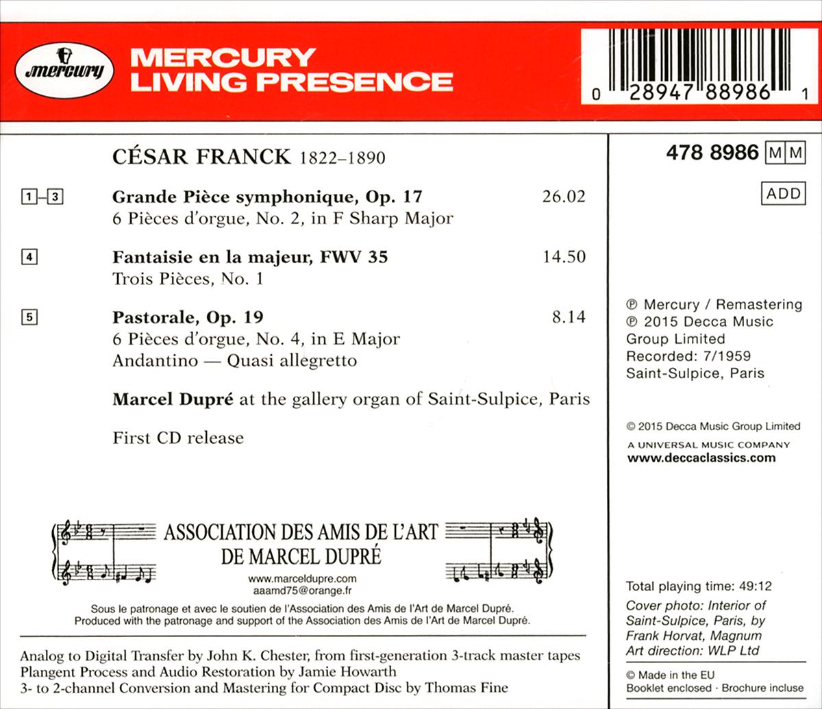 Marcel Dupre. Franck. At Saint-Sulpice. Volume Three. Марсель Дюпре