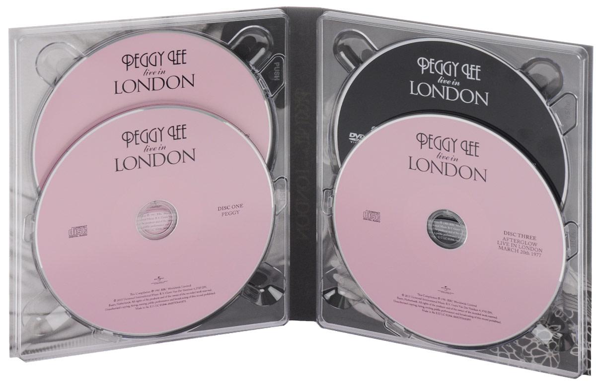 Peggy Lee. Live In London (3 CD + DVD). Пегги Ли