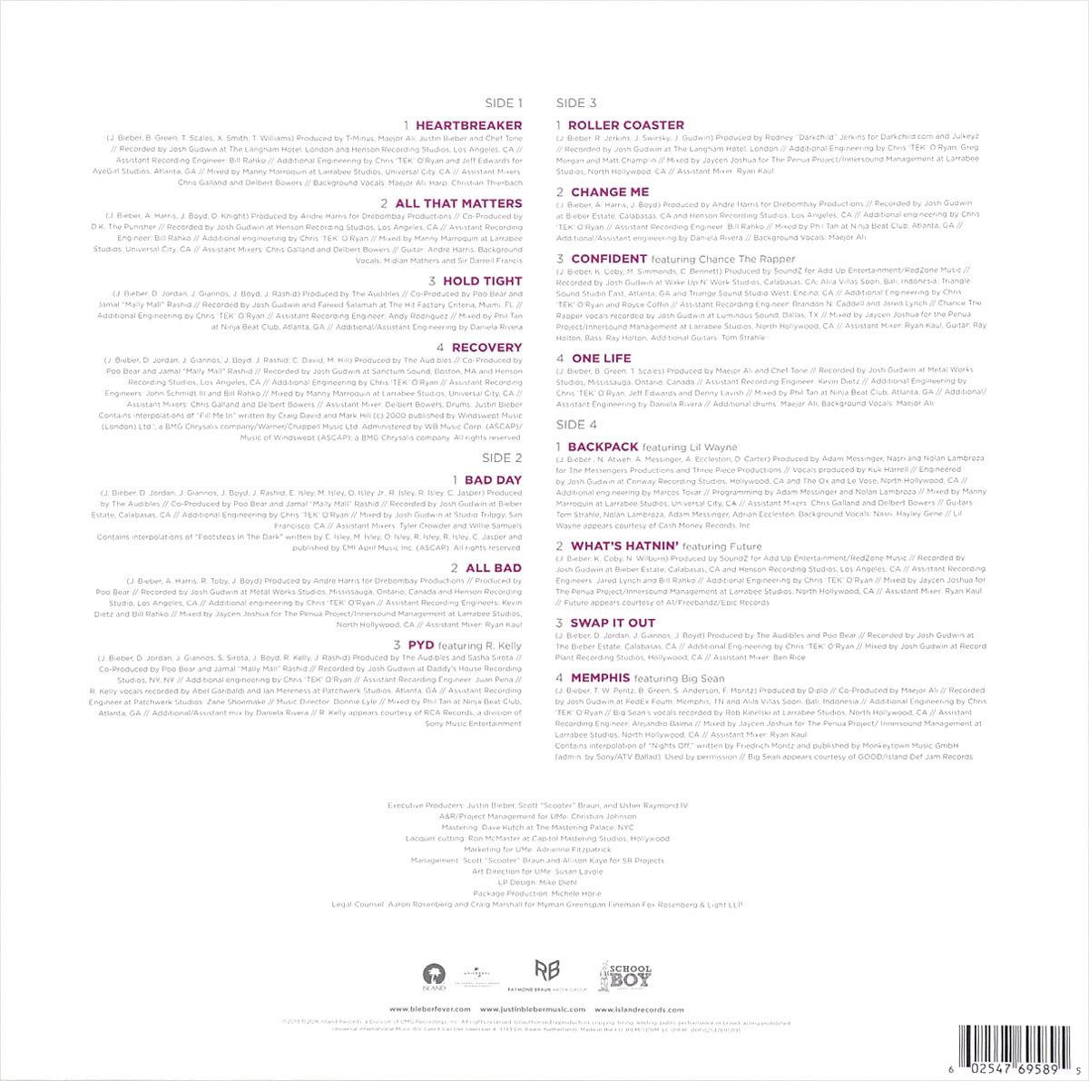 Justin Bieber. Journals (LP)