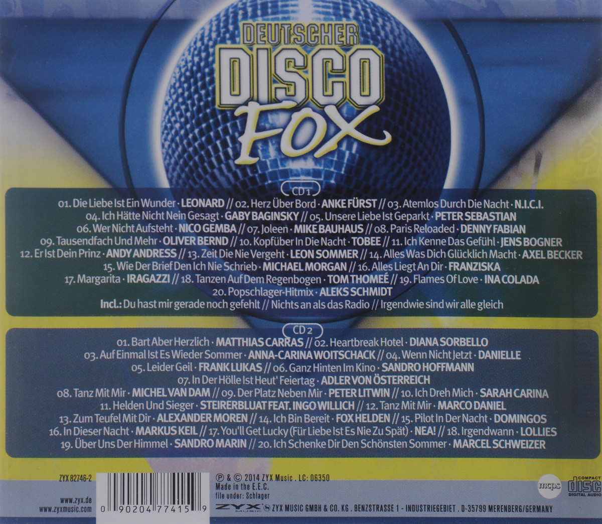Deutscher Disco Fox 2014/2 (2 CD)