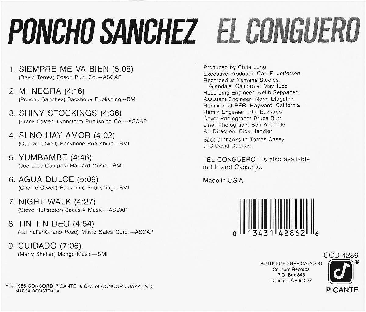 Poncho Sanchez. El Conguero. Пончо Санчез