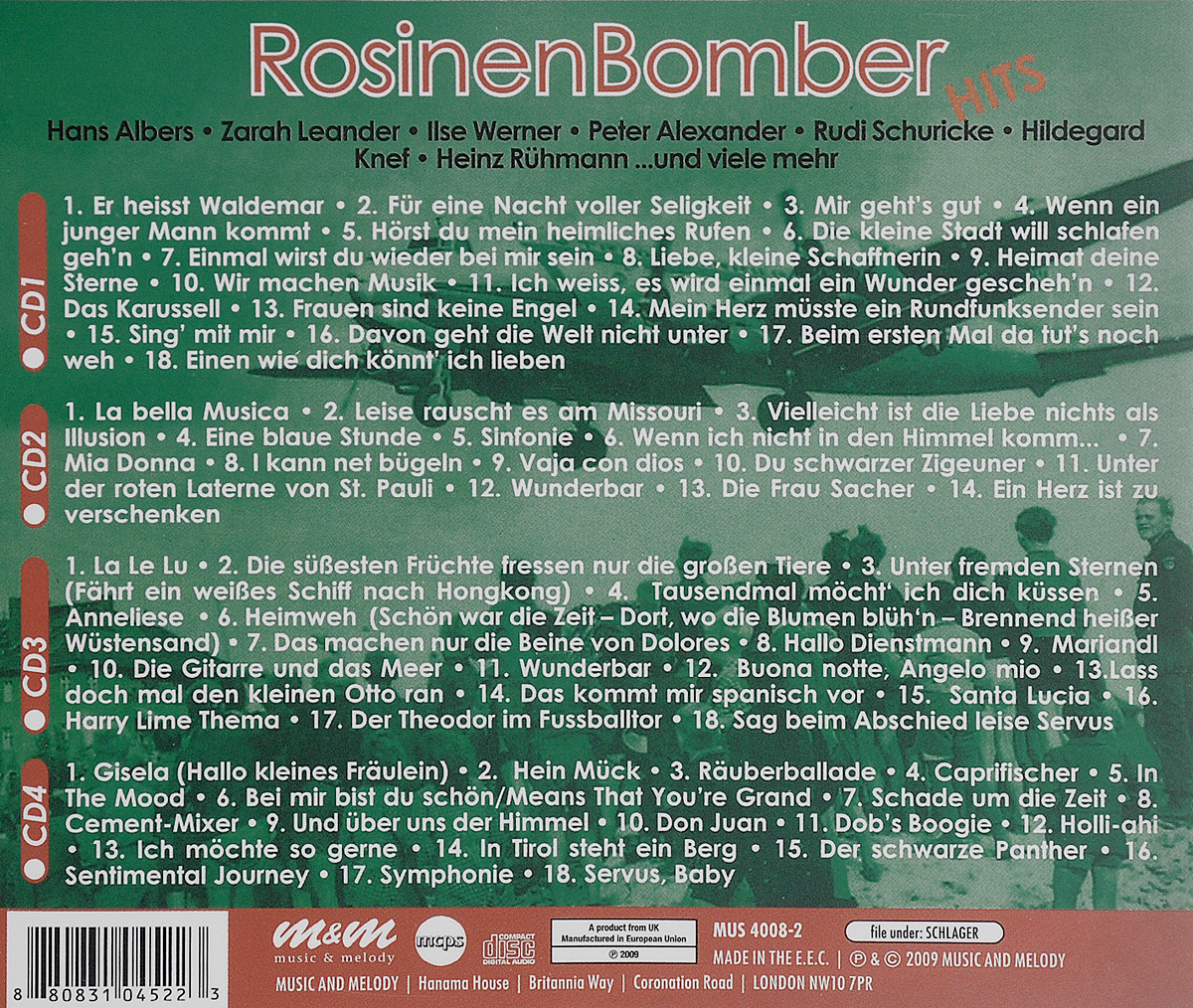 Rosinenbomber Hits (4 CD)
