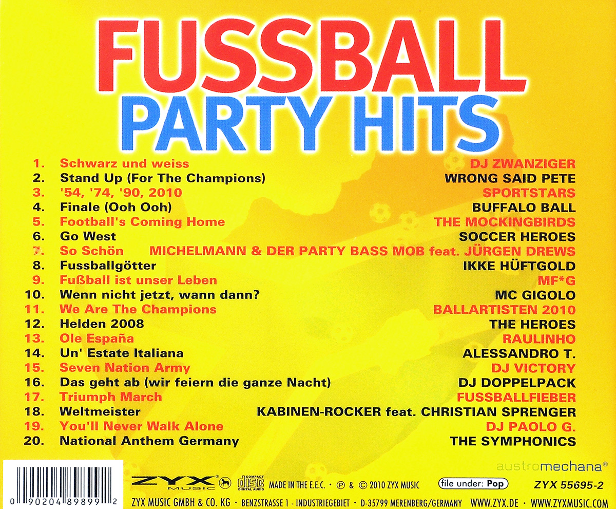 Fussball. Party Hits