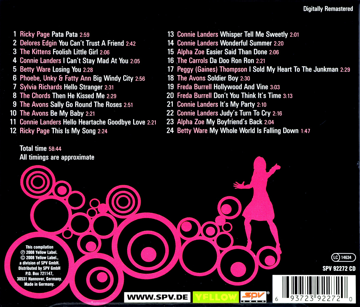 Girls Girls Girls: 1960s Rock 'n Roll. Connie Landers