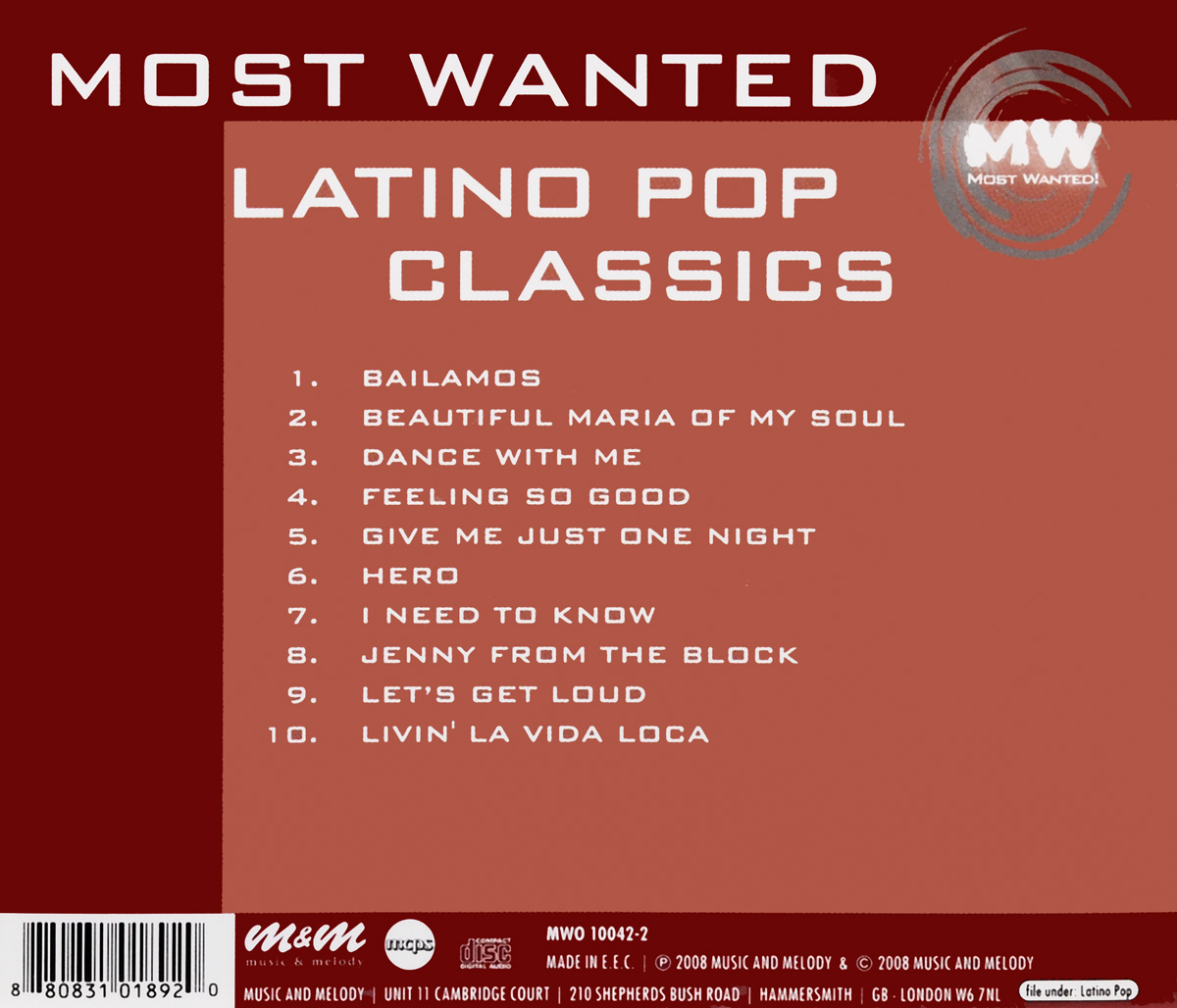 Most Wanted. Latino Pop Classics