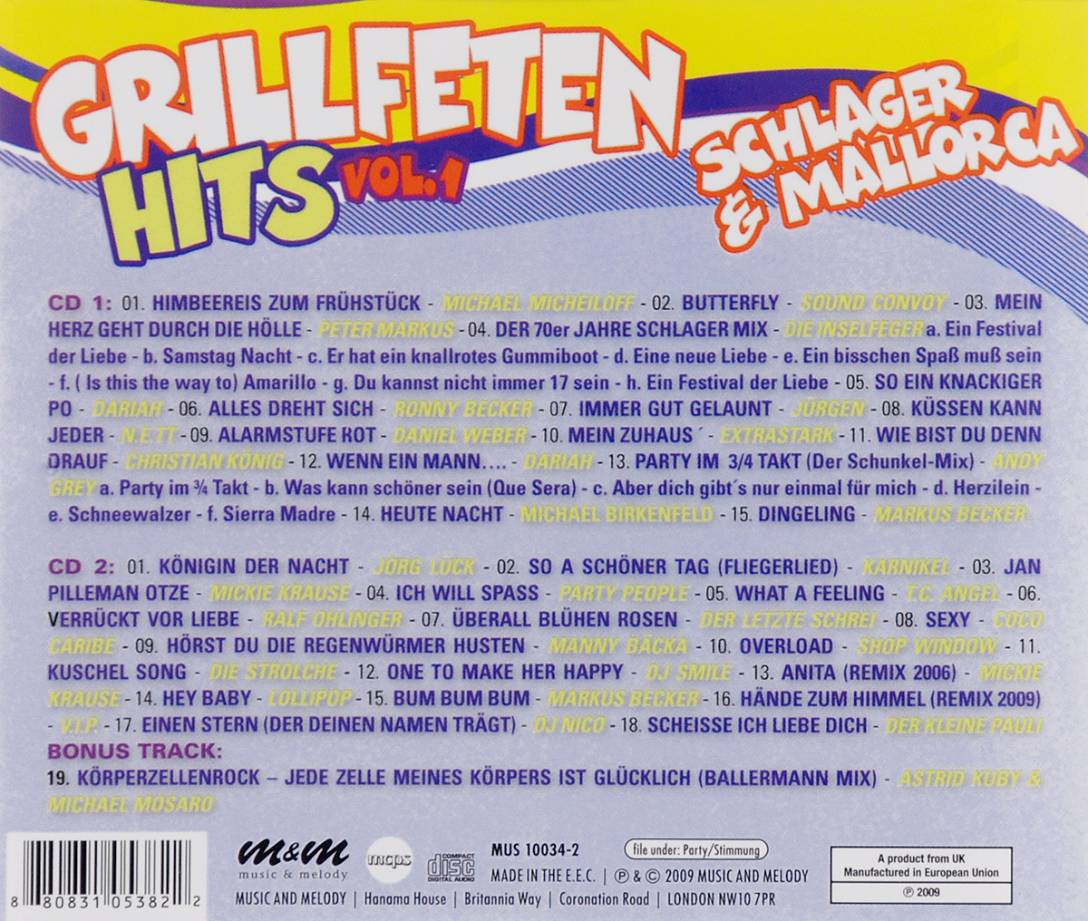 Grillfeten Hits. Vol. 1 (2 CD)
