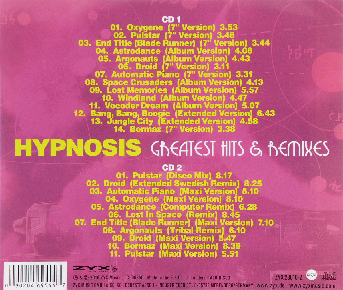 Hypnosis. Greatest Hits & Remixes (2 CD)