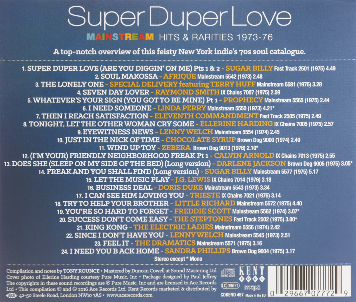 Super Duper Love. Mainstream Hits & Rarities 1973-76