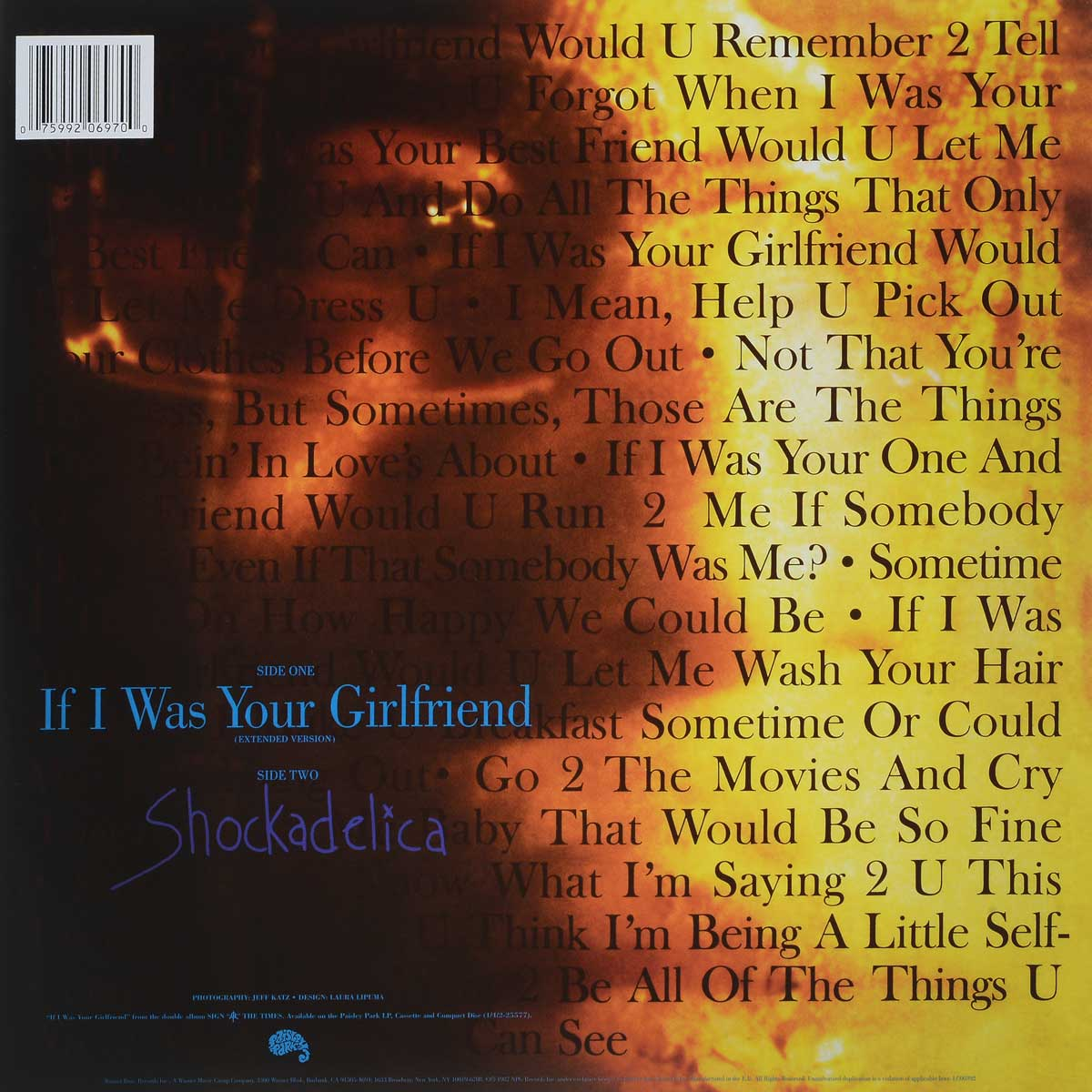 Prince. If I Was Your Girlfriend (LP) Side Track Side Track...