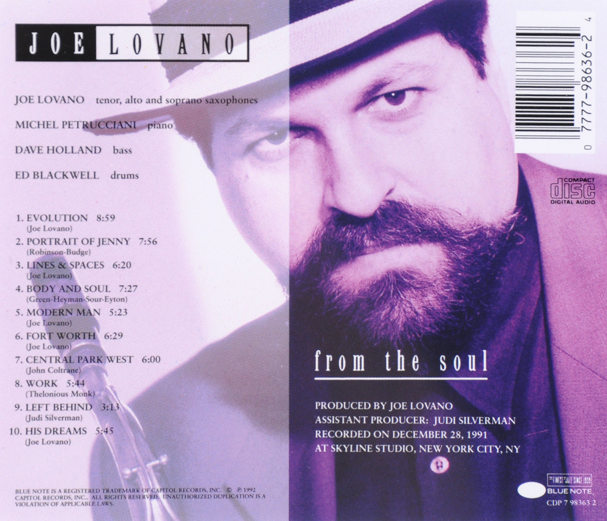 Joe Lovano. From The Soul . ...