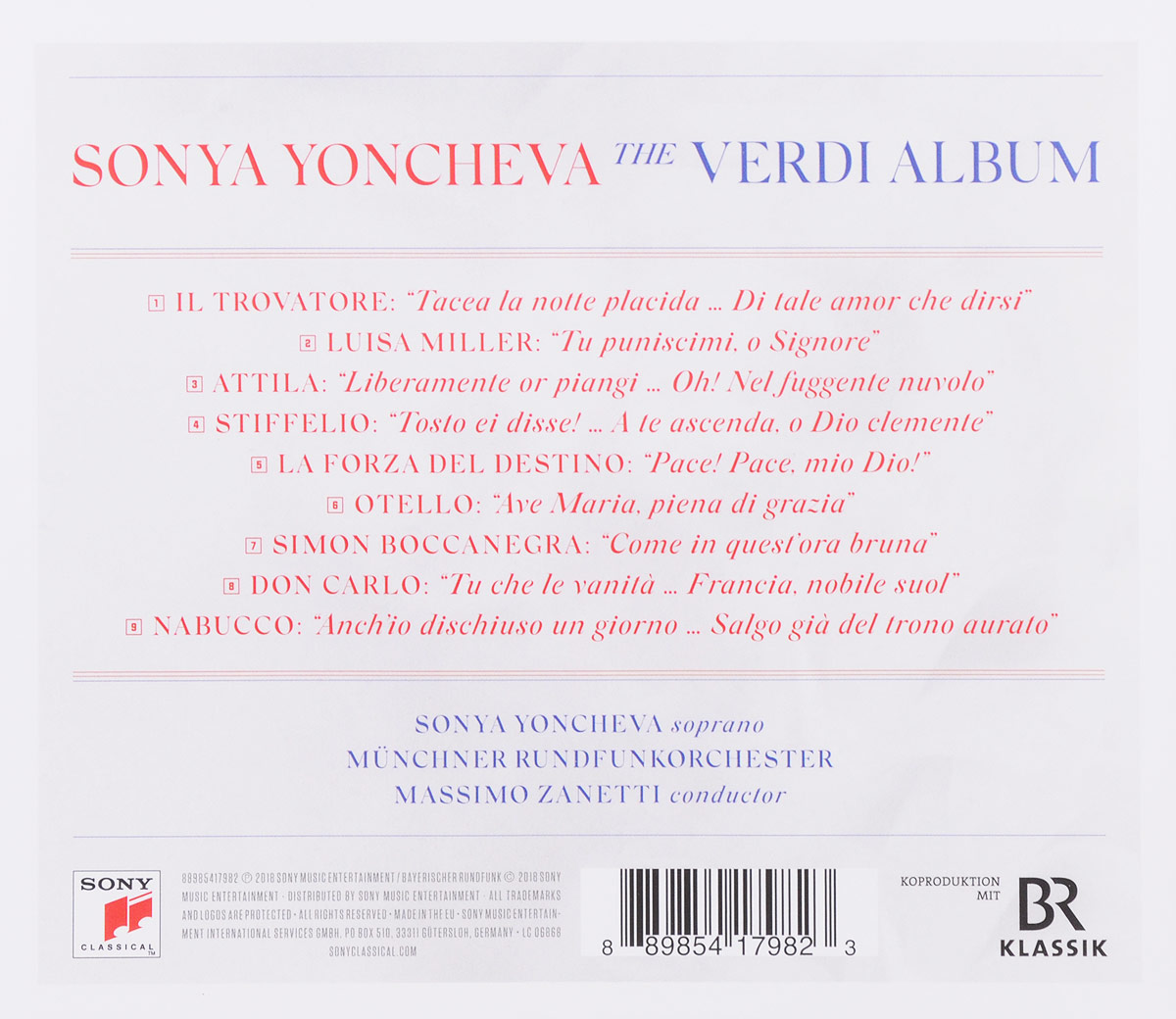 Sonya Yoncheva.  The Verdi Album