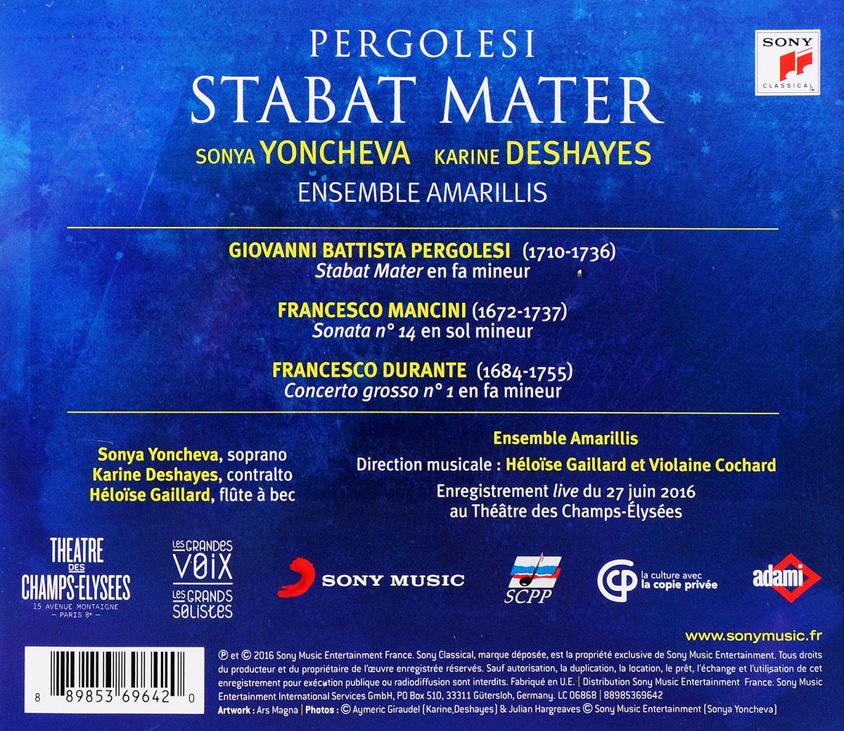 Sonya Yoncheva / Karine Deshayes.  Pergolesi Stabat Mater