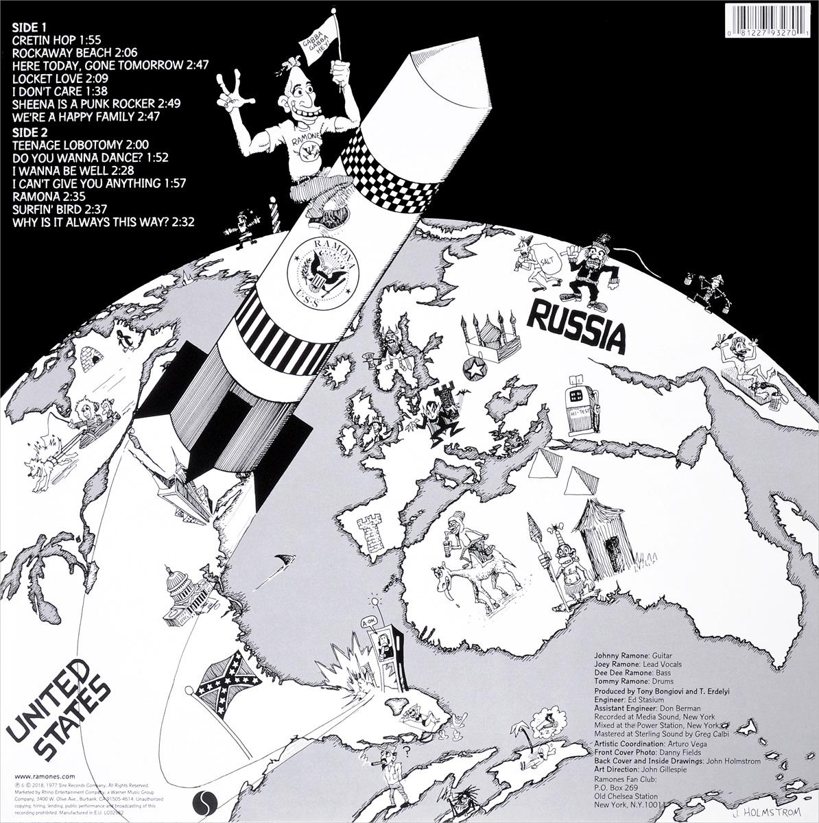 Ramones.  Rocket To Russia (Remastered) (LP)
