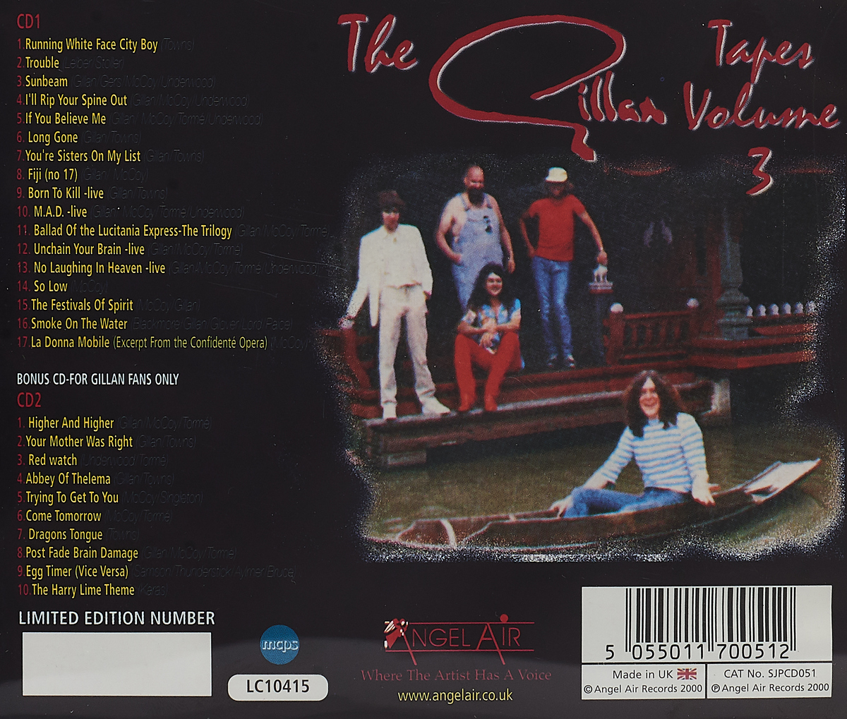 Gillan.  Gillan Tapes Vol. 3 (Ltd. Edition) (2 CD)