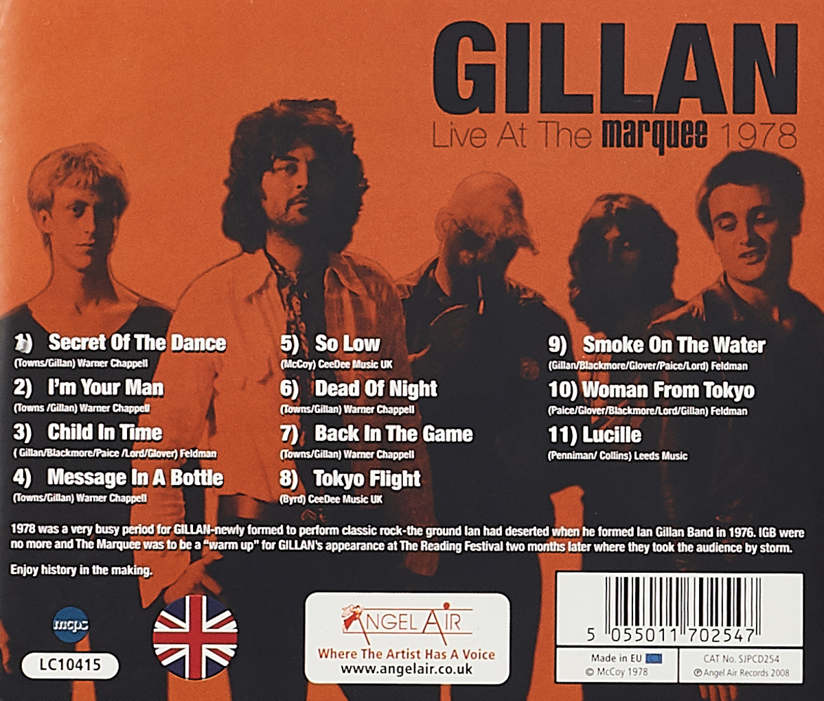 Gillan.  Live At The Marquee 1978