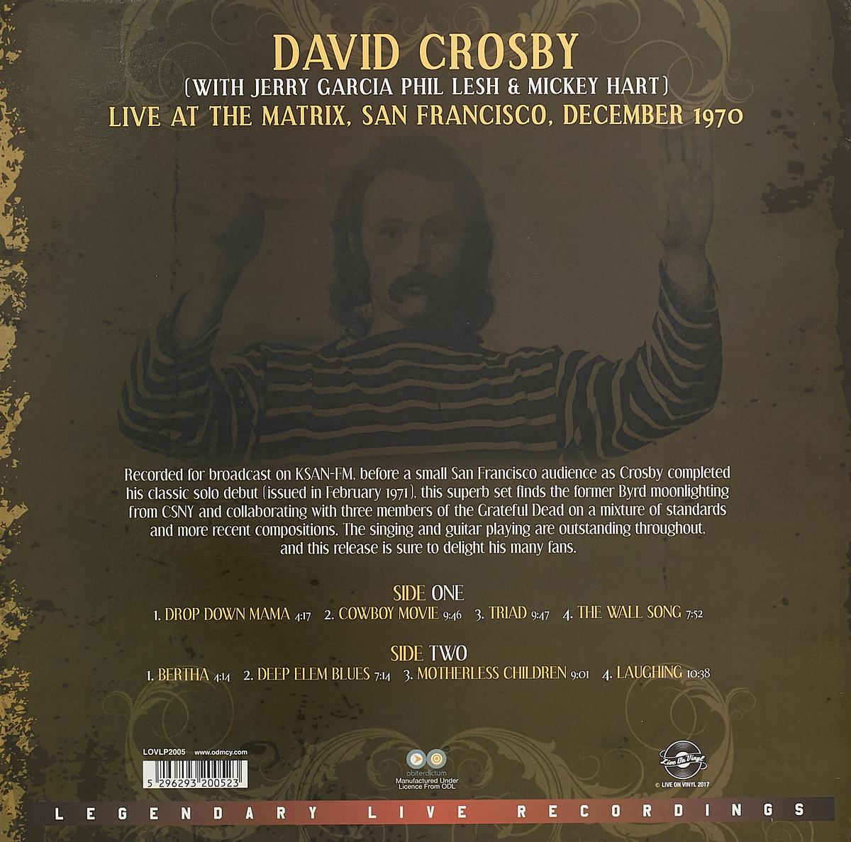 David Crosby.  Live At The Matrix December 1970 (LP)