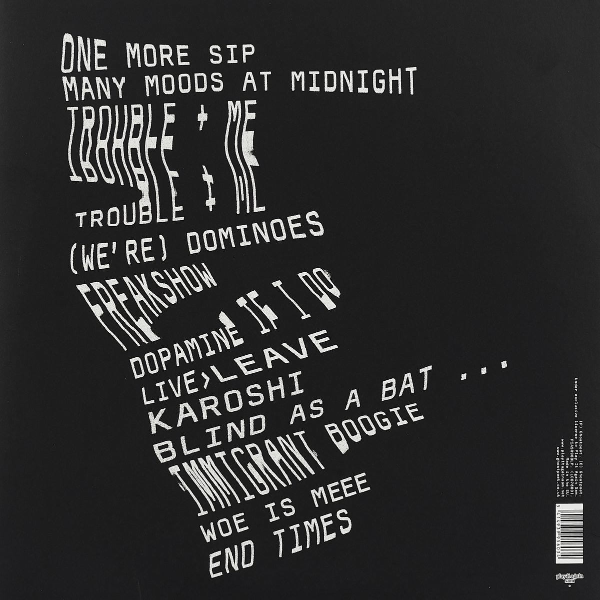 Ghostpoet.  Dark Days& Canapes (LP)