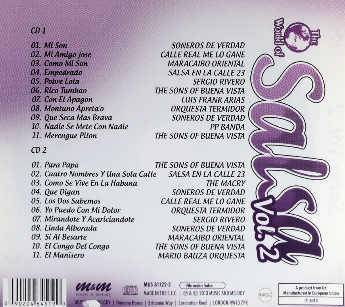 Various Artists.  Salsa Vol.  2 (2 CD)