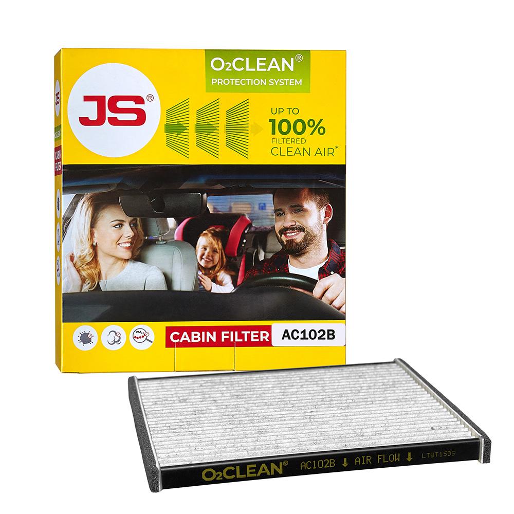 Салонный фильтр JS Антибактериальная система очистки воздуха в салоне автомобиля O2CLEANAC102BJS O2CLEAN – это решение для защиты здоровья водителей и пассажиров, которое обеспечивает благоприятную воздушную среду в салоне автомобиля и является хорошей профилактикой сезонной аллергии. Система очистки воздуха JS O2CLEAN устанавливается вместо конвенционального салонного фильтра и дает пользователю преимущества, несравнимые с обычным салонным фильтром. JS O2CLEAN можно устанавливать на автомобили, находящиеся на гарантии, без нарушения условий предоставления гарантийной поддержки производителем автомобиля. Данный артикул подходит для автомобилей: TOYOTA LAND CRUISER PRADO 4.0 2003 - 2009; TOYOTA PRIUS 1.5 2003 - 2009; TOYOTA LAND CRUISER PRADO 2.7 2003 - 2009