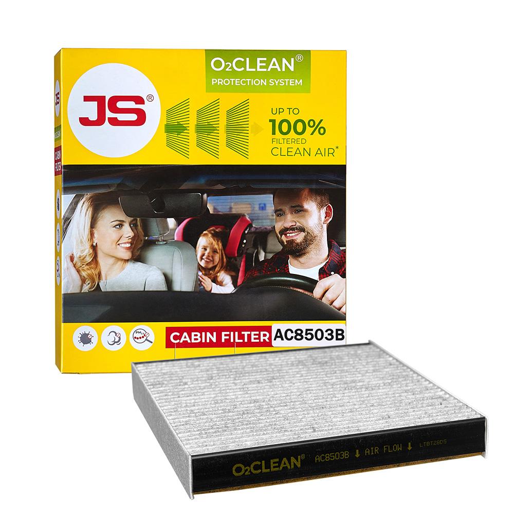 Салонный фильтр JS AC0119BL Антибактериальная система очистки воздуха в салоне автомобиля JSO2CLEAN new original sensor 3rg4023 3ag01