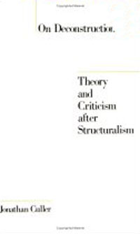 Обложка книги On Deconstruction: Theory and Criticism after Structuralism