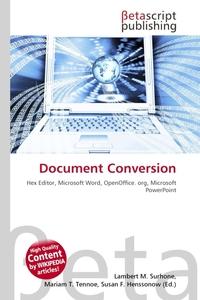 Обложка книги Document Conversion