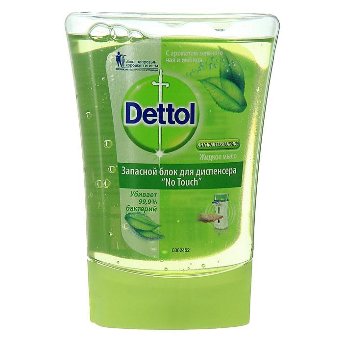 Запасной блок жидкого мыла Dettol, с ароматом зеленого чая и имбиря, 250 мл