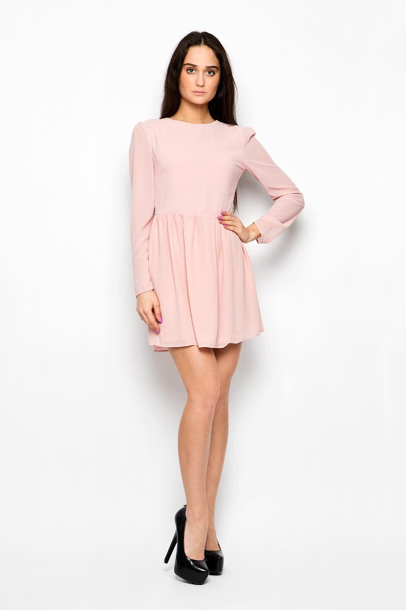 Платье Glamorous, цвет: бледно-розовый. CK2061. Размер XS (42)