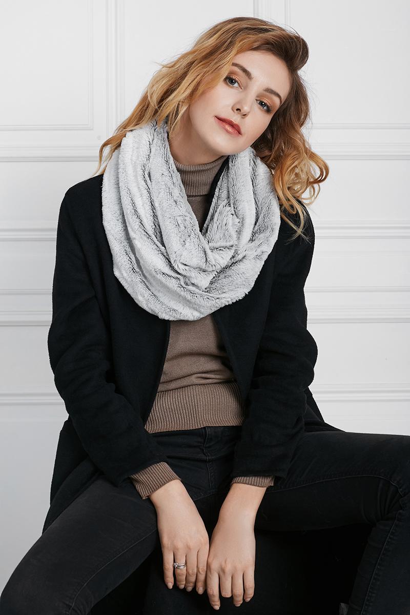 Как носить шарф хомут зимой фото