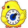 Развивающая игрушка Часы Цыпленок - изображение