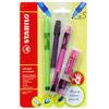 Набор STABILO LeftRigth: ручка + карандаш + ластик + точилка + грифели, для правшей, для обучения письму, розовый - изображение