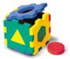 Флексика Мягкий конструктор Кубик с геометрическими фигурками - изображение